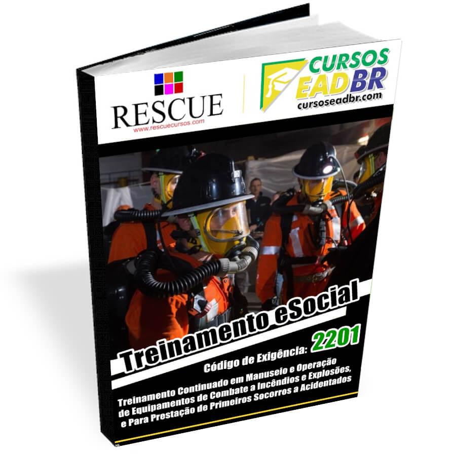 2201 - Treinamento Continuado em Manuseio e Operação de Equipamentos de Combate a Incêndios e Explosões, e Para Prestação de Primeiros Socorros a Acidentados | EAD | Ao Vivo | Presencial | 51680