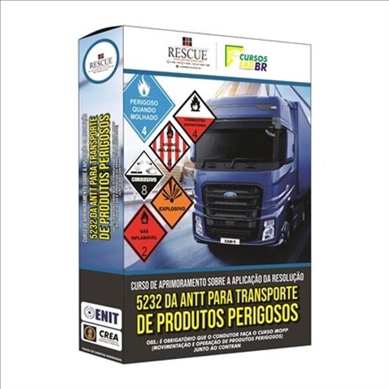 Curso de Aprimoramento sobre a Aplicação da Resolução 5232 da ANTT para Transporte de Produtos Perigosos