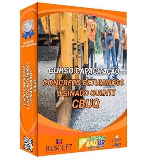 Curso CBUQ – Concreto Betuminoso Usinado a Quente |EAD | Ao Vivo | Presencial | Online | 17463