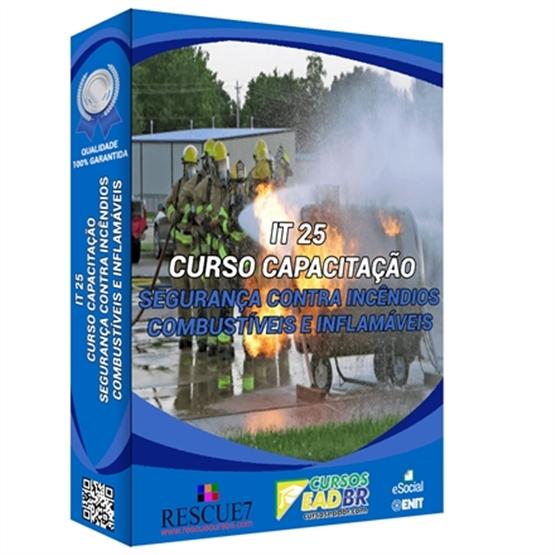 IT 25 – Segurança Contra Incêndio para Líquidos Combustíveis e Inflamáveis | EAD | Ao Vivo | Presencial | 56018 Online |