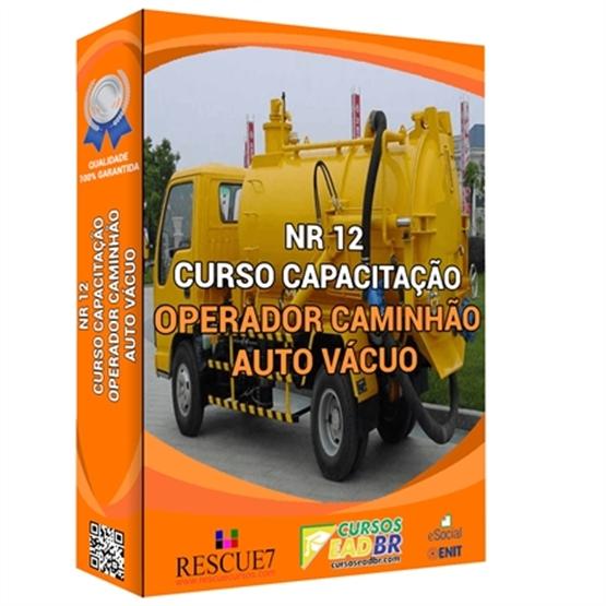Curso Operador Caminhão Auto Vácuo | EAD | Ao Vivo | Presencial | Online | 13786
