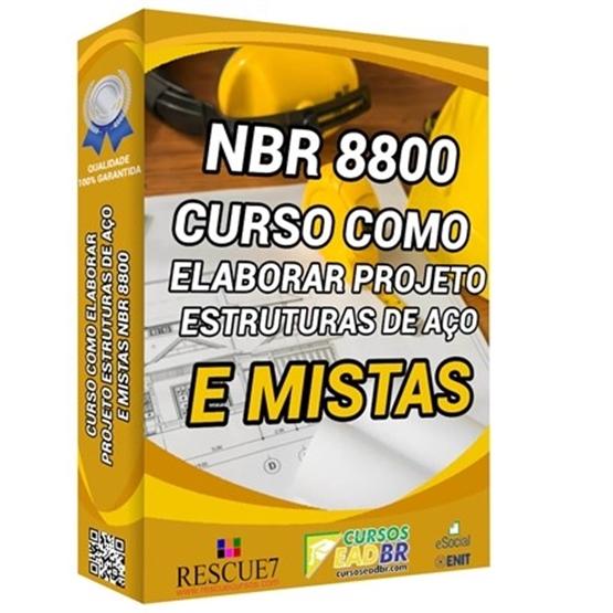 Curso Projeto Estrutura de Aço e Mistas NBR 8800 | EAD | Ao Vivo | Treinamento | 111834