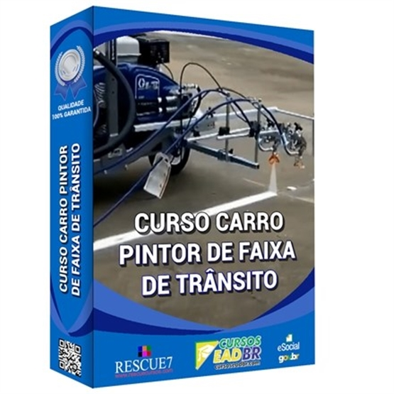 Curso Carro Pintor de Faixa de Trânsito   EAD   Ao Vivo   Presencial   Online   67862